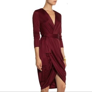 Altuzarra Target Red Satin Red Dress W/Scarf 2